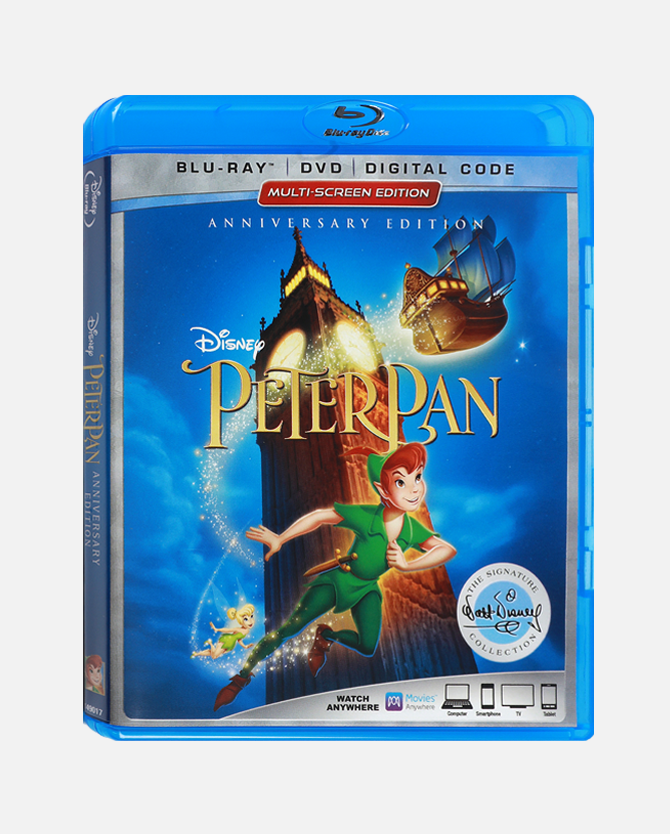 Peter Pan Signature Collection Anniversary Edition Blu-ray Combo Pack + Digital Code