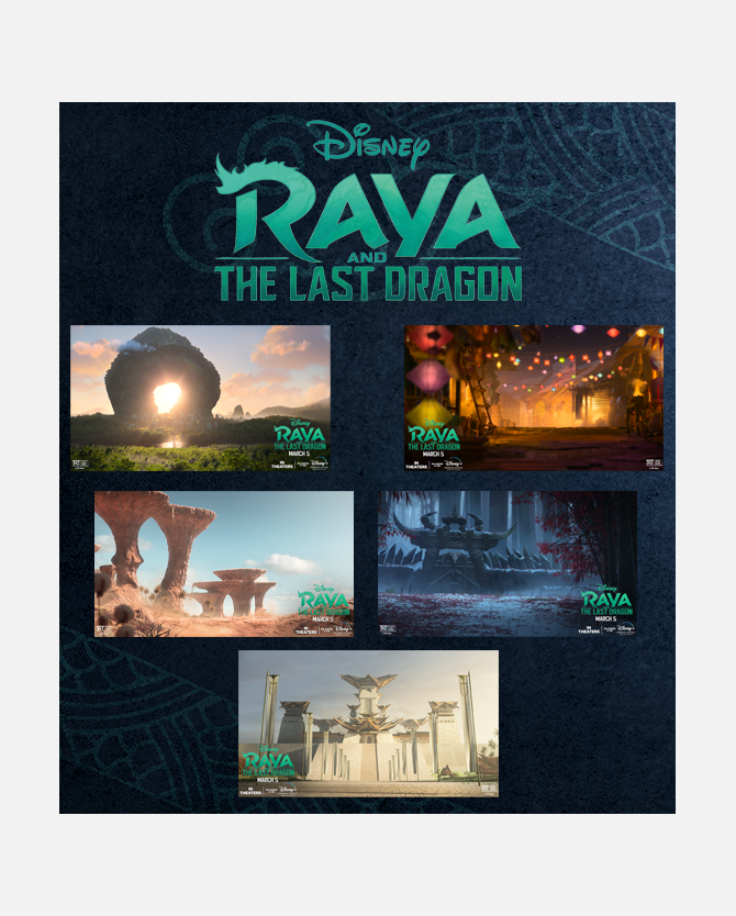Raya and the Last Dragon Virtual Conference Backgrounds