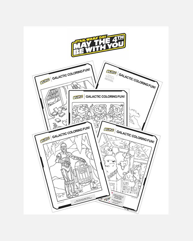 Star Wars Day May The 4th Be With You Printable Coloring Sheets
