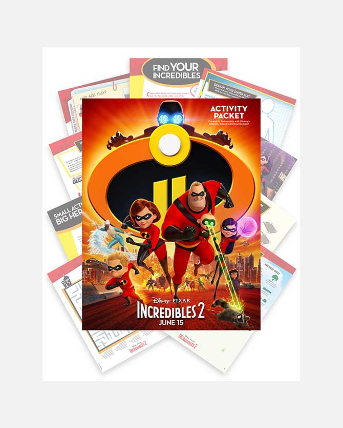 The Incredibles 2 Printable Activity Packet