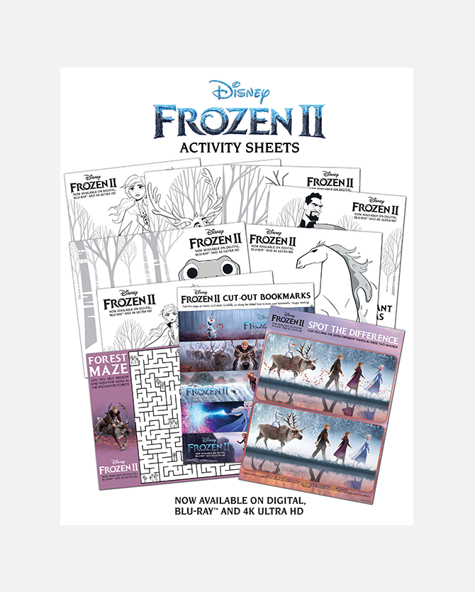 Frozen 2 Printable Activity Sheets