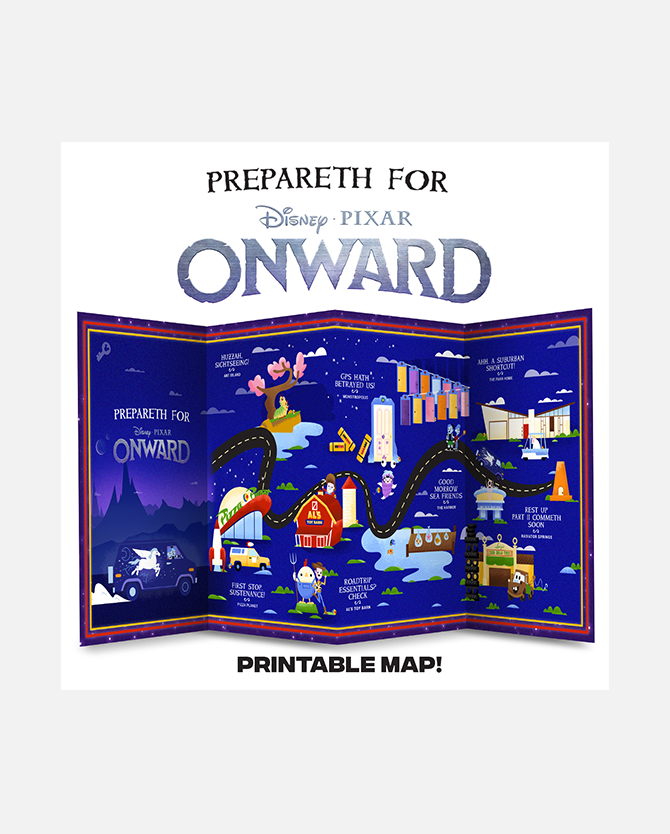 Onward Pixar Quest Printable Map Activity