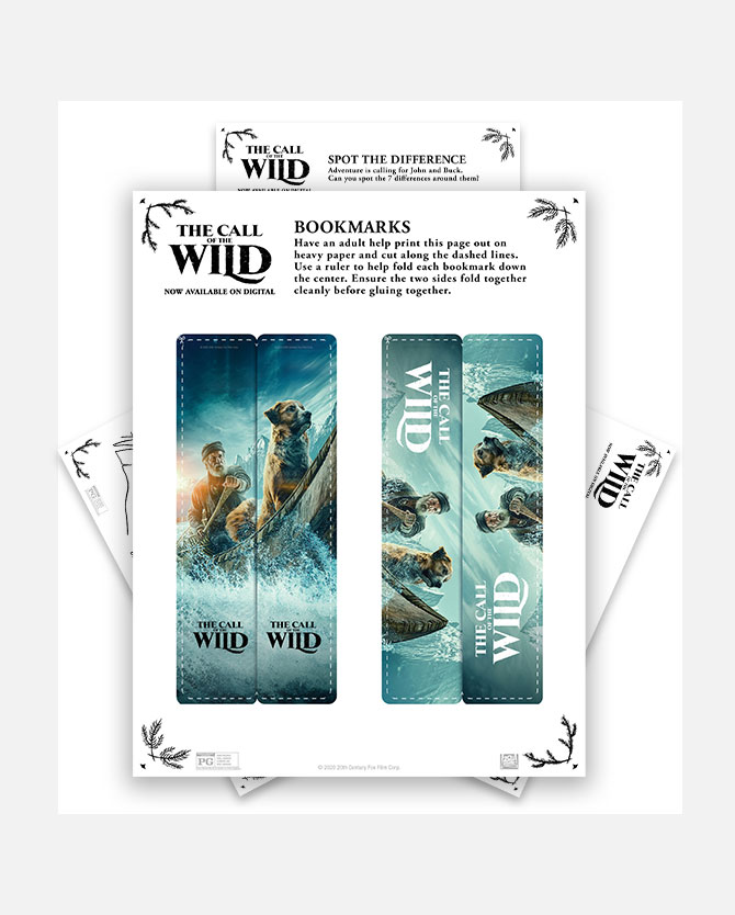 The Call Of The Wild Printable Activity Packet