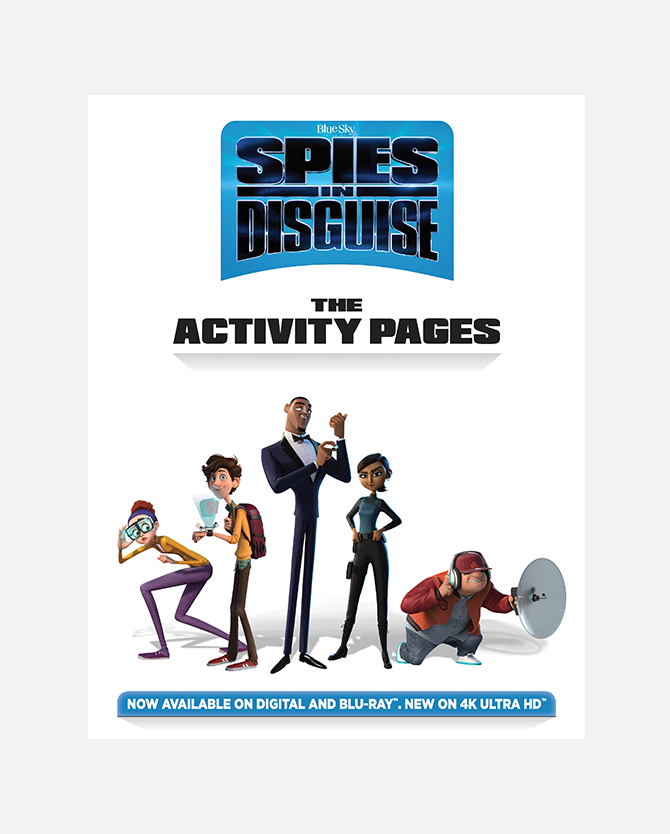 Spies in Disguise Printable Activity Sheets