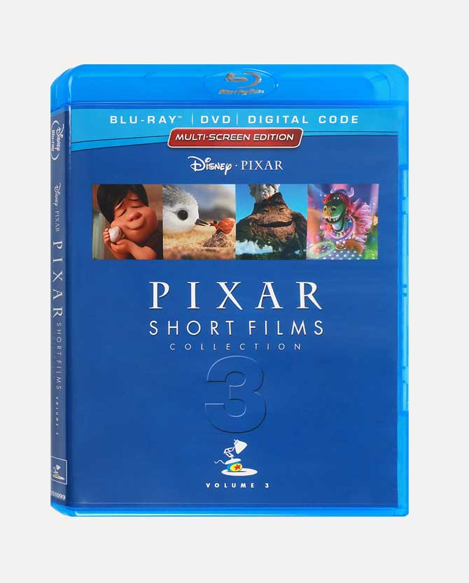 Pixar Short Films Collection Vol. 3 Blu-ray Combo Pack + Digital Code