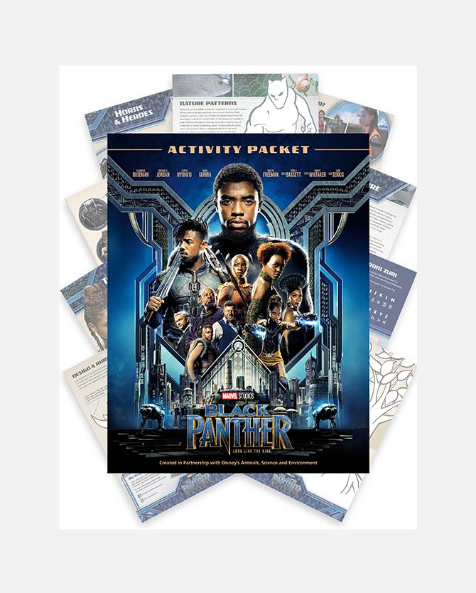 Marvel Studios Black Panther Activity Packet