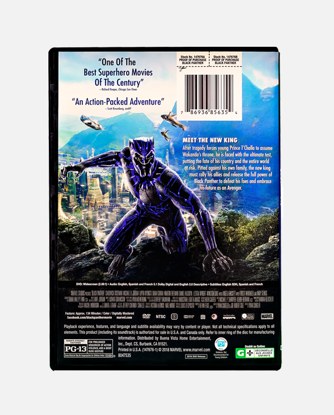 Marvel Studios' Black Panther DVD