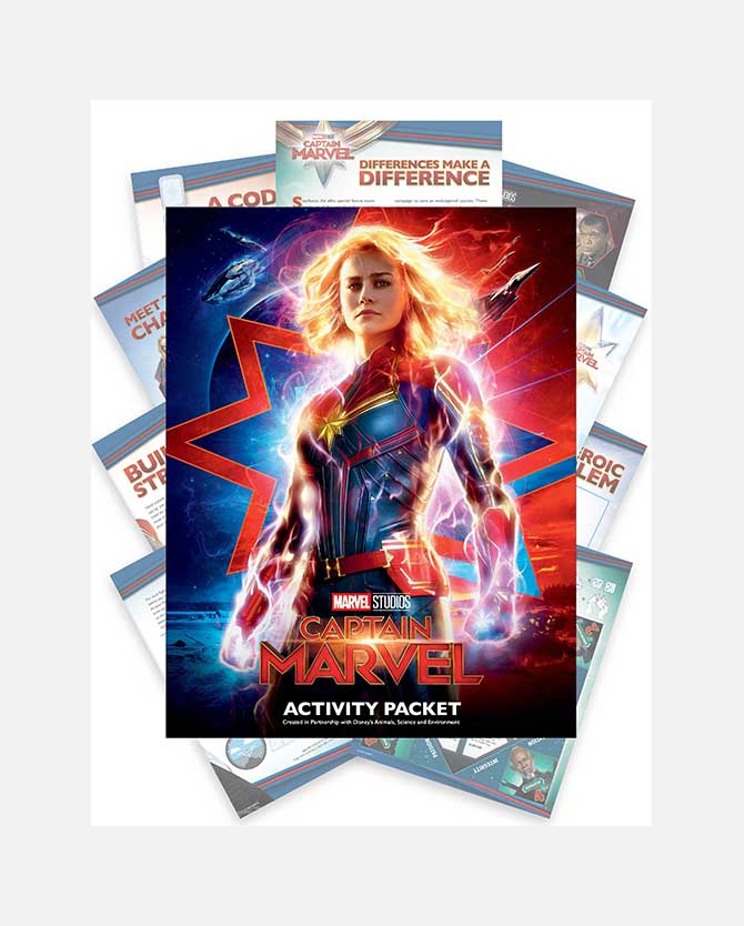 Marvel Studios' Captain Marvel Printable Activity Packet